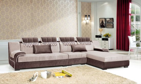 Hotel Furniture Royal Classic French Style Big Sofa Pictures of Steak Wood  Royal Latest U Shape Sectional Sofa Set Designs (FEC1193)