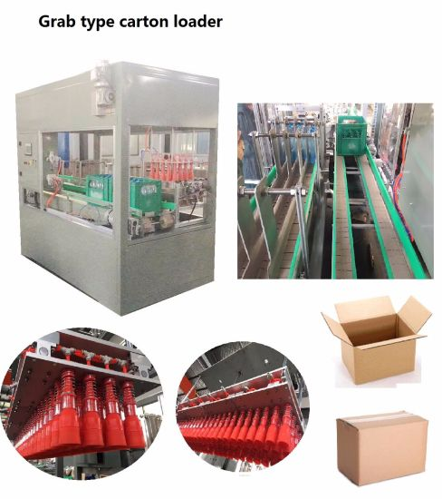 Automatic 5carton/M 10carton/M Grab Type Carton Case Sucker Type Loader and Sealing Packing Machine pictures & photos