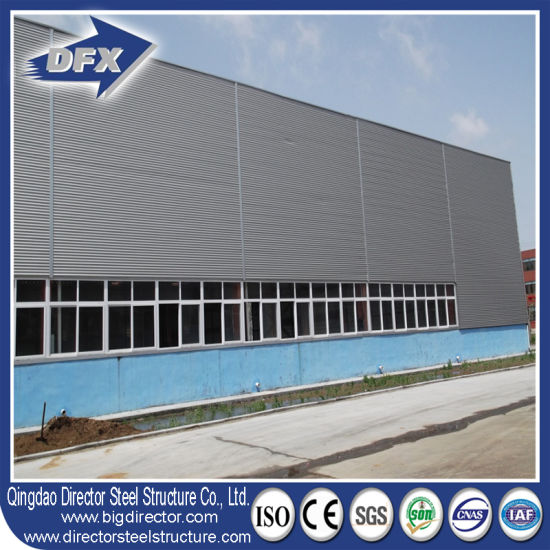 Low Cost Flat Roof Factory Workshop Steel Dome Storage Building