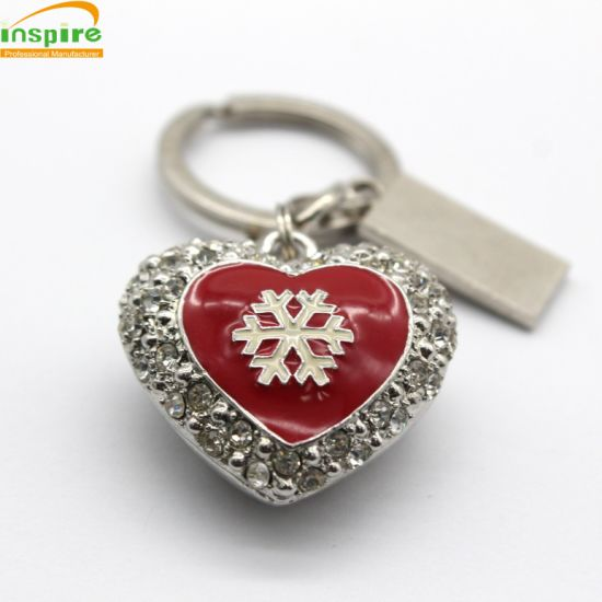 Promotional Gift Free Samples Service Custom Metal Christmas Key Chain pictures & photos