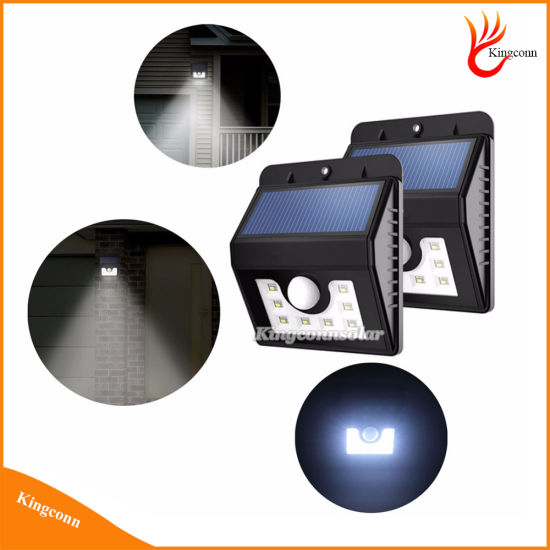 New 8 LED Solar Powered Motion Sensor Lamp for Outdoor Garden Pathway Emergency Spot Lighting pictures & photos