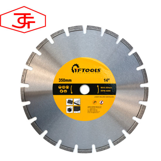 14 Inch 350 mm Diamond Cutter Blades for Cutting Asphalt Concrete pictures & photos
