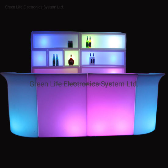 Modern Corian Furniture RGB LED Ice Bucket Table for Sale pictures & photos