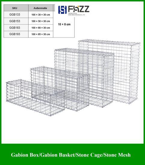 GABION Stone Basket 50 x 50 x 30 cm mesh wire 5 x 5 cm Gabions