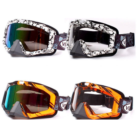 Ski Goggles/Motorcycle Helmet Goggles with Different Color Lens (AG008)