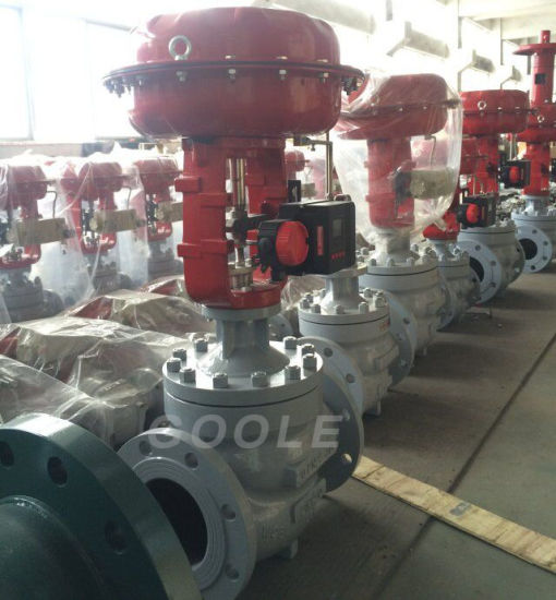 Pressure Balanced Cage Type Pneumatic Flow Control Valve (HSC) pictures & photos
