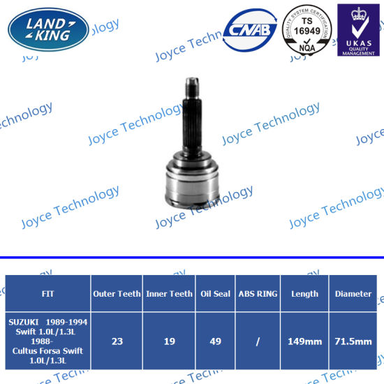 OEM Auto Spare Parts Outer CV Joint Sk-024 for Suzuki Swift/Cultus Forsa Swift