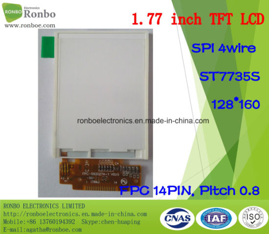 1.77 Inch 128*160 Spi 14pin TFT LCD Display pictures & photos