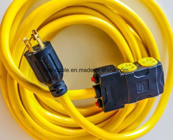 UL Approval NEMA 5-15p Power Cord 3 Pin UL Extension Cord Plug with 3-Pin PVC Female Connector