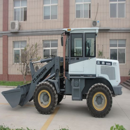 Compact 1.5 Ton Wheel Loader Used in Narrow Construction Space