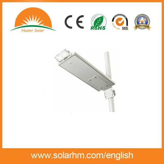 (HM-1220R) Smart All in One Solar Street Light LED 20W Outdoor Solar LED Street Lamp Light pictures & photos