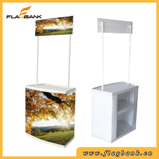 Tradeshow ABS Portable Promotion Counter with Top Board pictures & photos