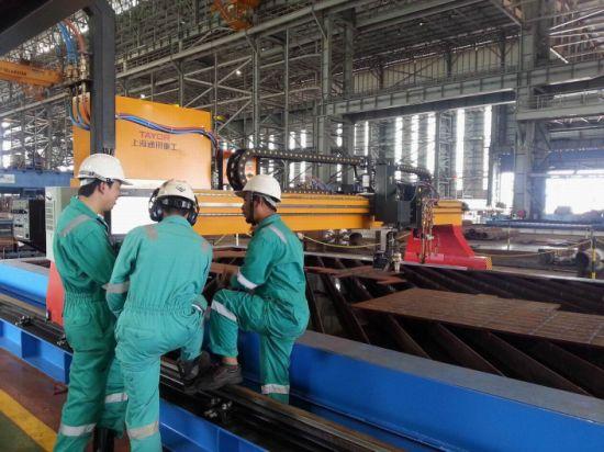 China Metal Sheet 3D True Hole CNC Plasma Bevel Cutting