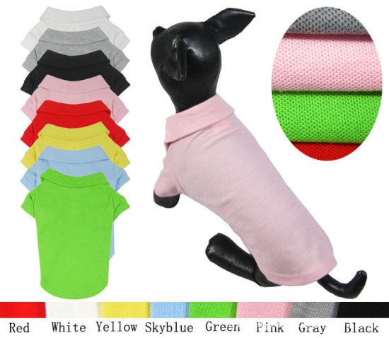 Pure Color Pet T-Shirt Basic Design Custom Dog Polo Shirt Clothes