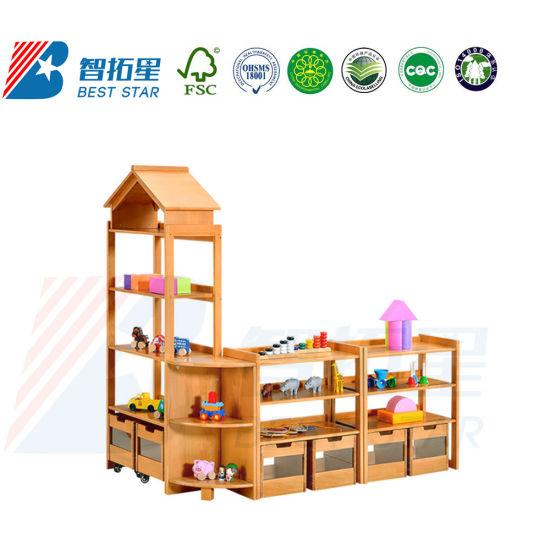 Daycare Furniture Kid's Rack, Combination Rack for Kinderargen and Preschool, School Furniture Children Display Rack, Playroom Furniture Toy Storage Rack,