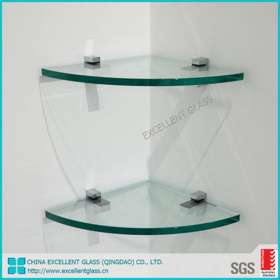 5mm 6mm 8mm Small Bathroom Corner Gl Shelf