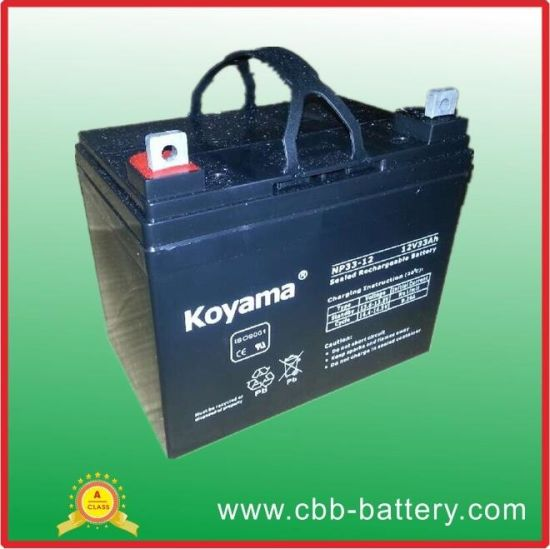 12V33ah Electric Motive Power Battery Np33-12 Deep Cycle Batteries pictures & photos