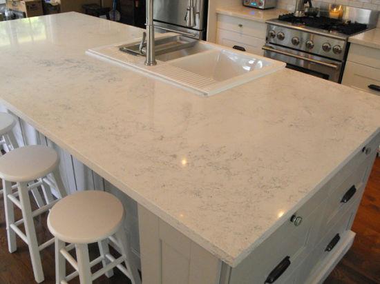 China Best Sparkle Polished White Stainless Quartz Kitchen Countertop Ideas China White Quartz Countertops White Countertops