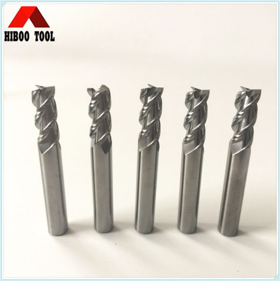 10mm Copper Carbide End Mill Bits with 3 Flutes