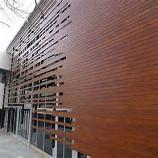 Wooden Like Aluminum Wall Panels / Architectural Metal Aluminum Panel