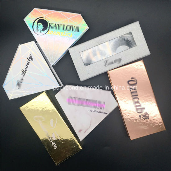 8d5b73c0ec0 China New Custom Diamond Shape Package Boxes 3D Mink Lashes - China ...
