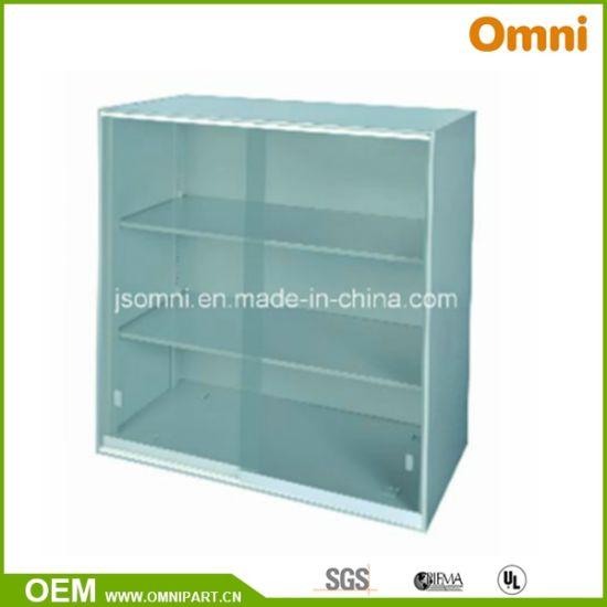 China Glass Sliding Doors Office Vertical Storage Cabinet Omni Yy