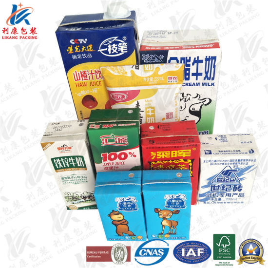 china aseptic packaging paper for milk and juice