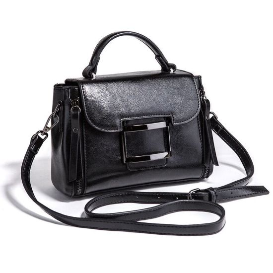 China Factory Bag Wholesale Lady PU Leather Tote Handbag