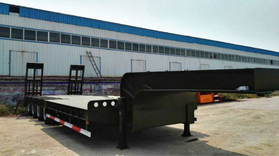 3 Axle 60 Ton Lowbed Trailer with Specification pictures & photos