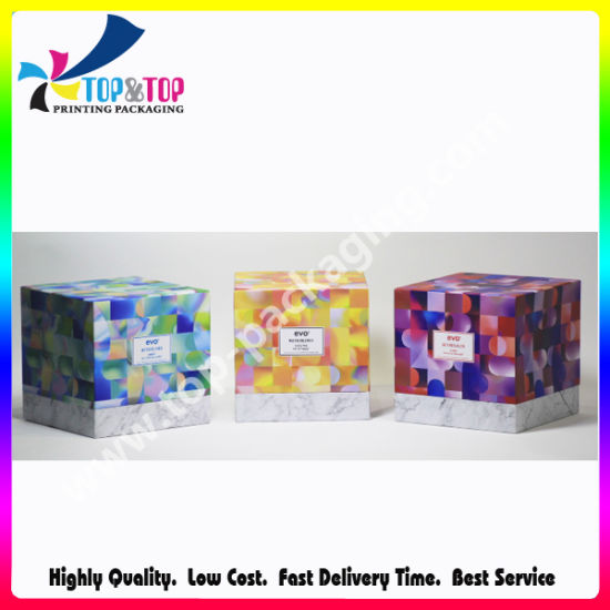 Colored Art Paper Box Hair Extension Packaging Box pictures & photos