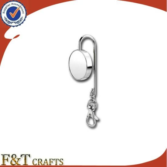 Wholesale Cheap Custom Metal Clothes Purse Hanger Hook with Keyring (FTBH9214J)