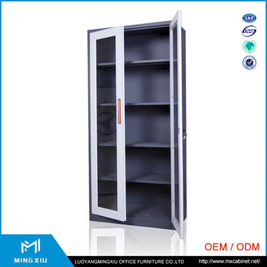 China 2 Swing Glass Door Used School Furniture Steel Storage Cabinet