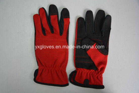 Synthetic Leather Glove-Working Leather Glove-Cheap Glove-Labor Glove-Machanic Glove pictures & photos
