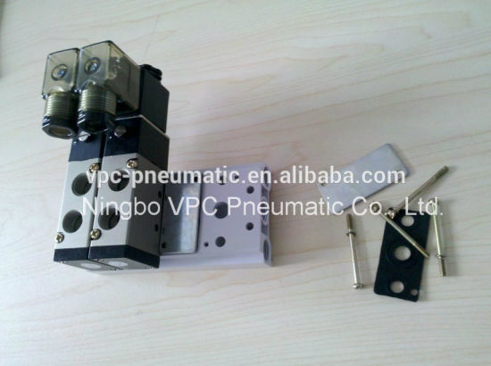 4V210-08 Multiple Stations Pneumatic Air Solenoid Valve Base Valve Manifold Sub-Base for 2-8 Stations pictures & photos