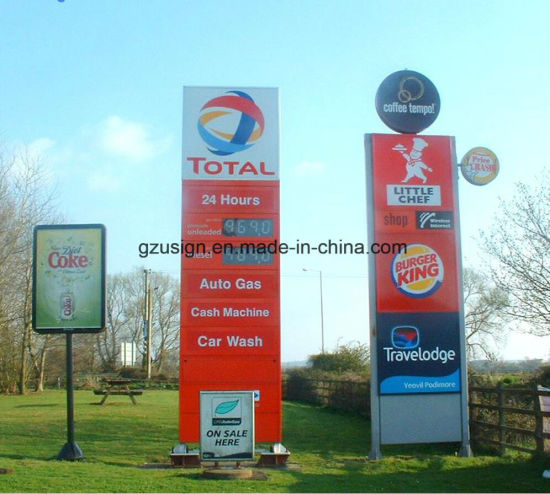 Customized Double Side Outdoor LED Sign for Gas Station