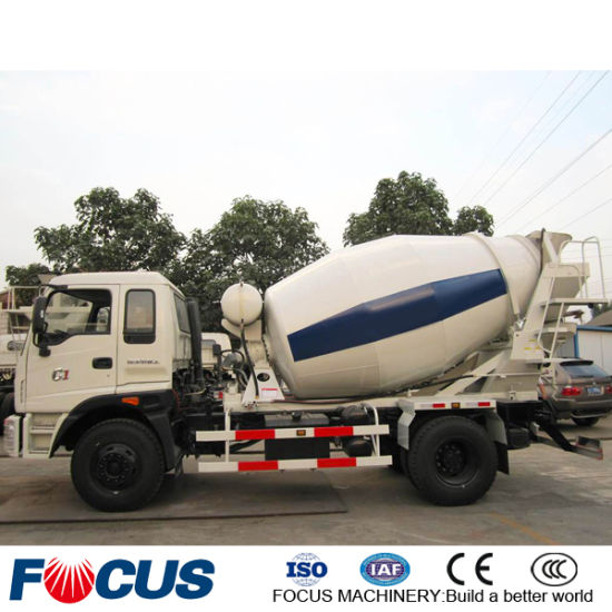 3m3/4m3 Rhd Mini Concrete Truck Mixer with Right Hand Drive pictures & photos