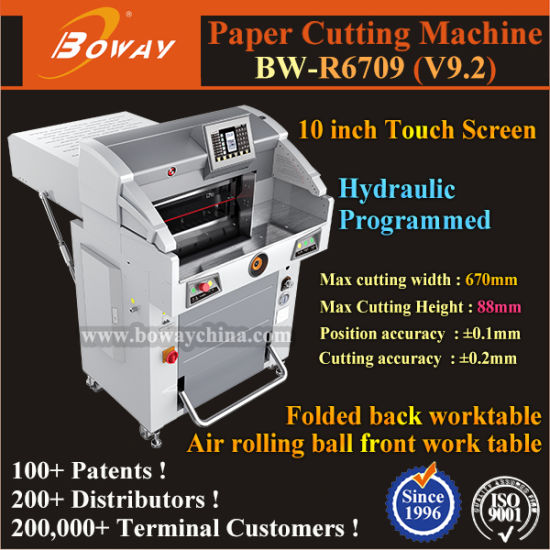 670mm A3 A4 Programmed Pushing 10.2 Inch Touch Screen Hydraulic Pedal Press Automatic Cutting Machine Paper