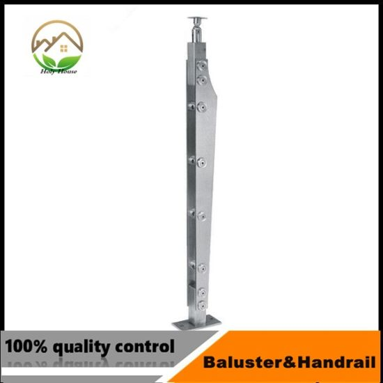 Inox Handrail Baluster With Bar Holder For House Stair