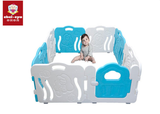 8 Panel Child Safety Playpen / Baby Play Yard Mermaid Fence SGS Certification