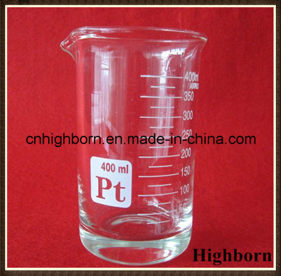 Clear Borosilicate Low Form Glass Beaker with Spout pictures & photos