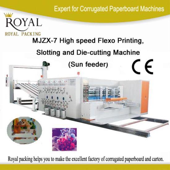 High Speed Printing Slotting Die-Cutting Carton Machine for Carton