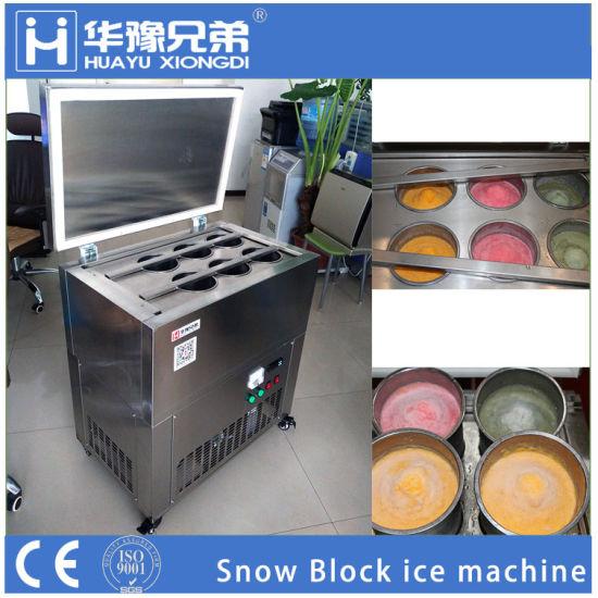 Block shaved ice maker