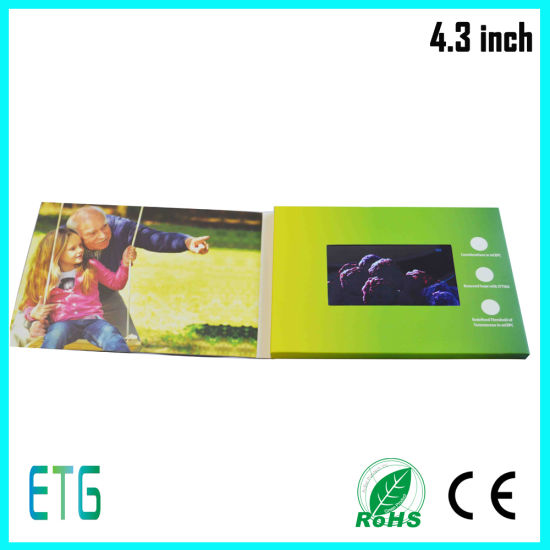 Hot Selling LCD Video Display Book for Advertising pictures & photos