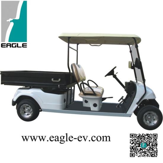 Electric Utility Vehicle with Cargo Box, CE Approved,