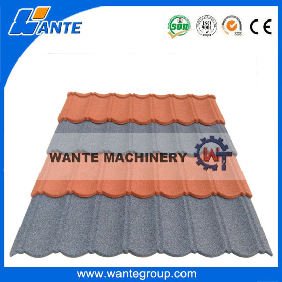 China Durable Stone Coated Metal Roof Tile In Uganda India Africa