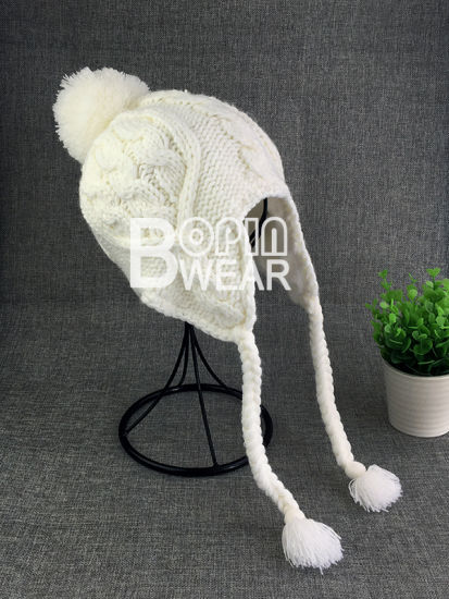 3ddc0c4622a China Custom POM POM Kids Beanie Hat with Ear Flap - China Beanie