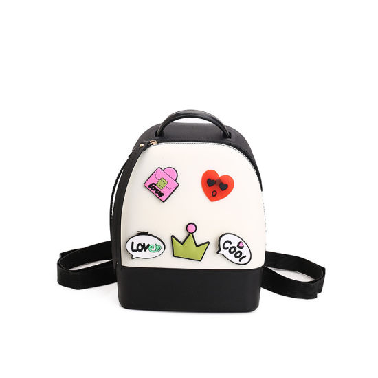 Spring New Jelly Children Students Sweet Cartoon Shoulder Backpack Fashion Travel Schoolbag