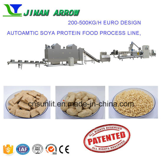 China Automatic Soya Nuggets Machine Soya Protein Food Process