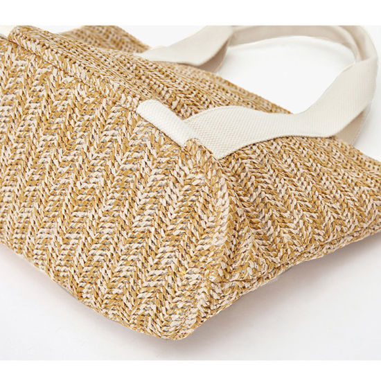 Factory Price High Quality Woven Tote Handbags Recycled Raffia Straw Bag