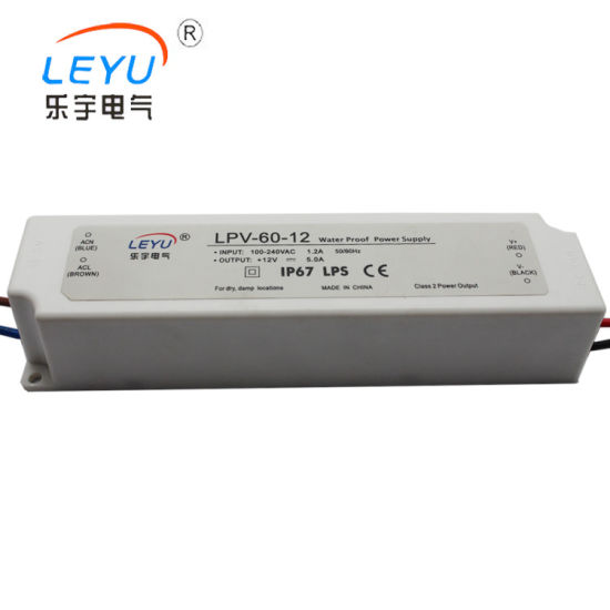 Lpv-60-36 IP67 Waterproof Single Type Switch Mode Power Supply pictures & photos
